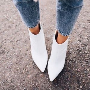 White booties size 9.5- 10! New